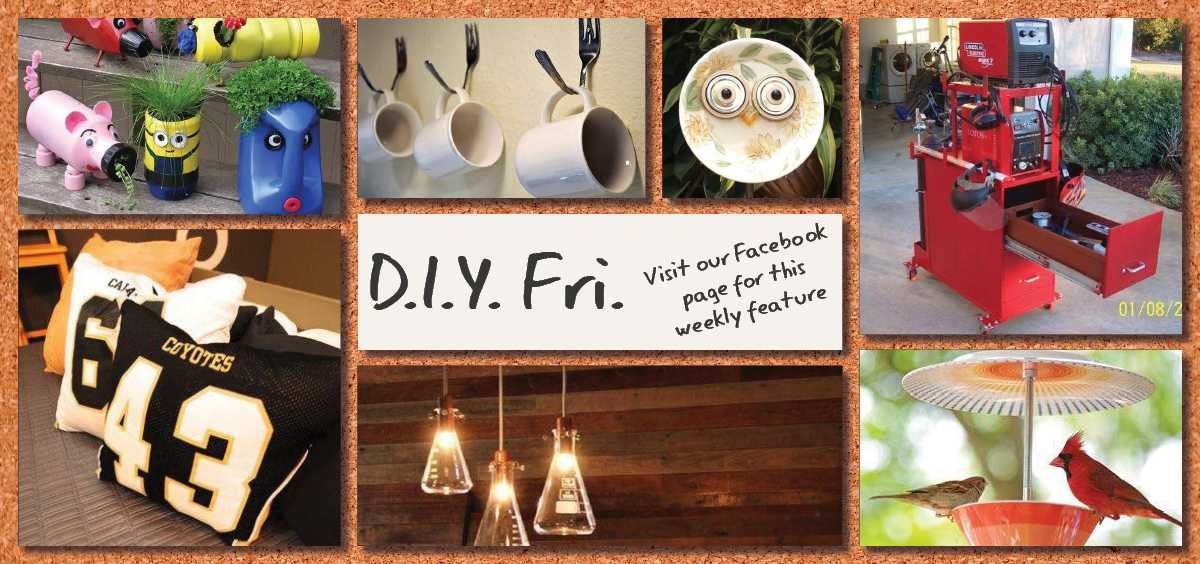 Visit our Facebook page for our weekly D.I.Y. Fri. feature