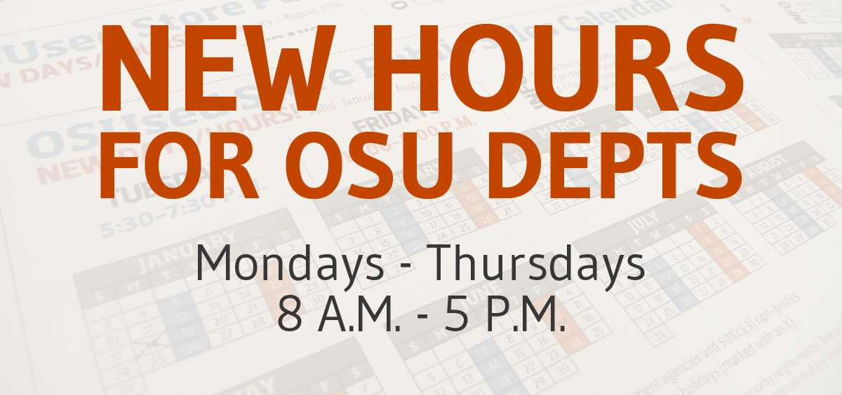 New hours for departments