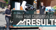 See Residence Hall Move Out Donation Drive results