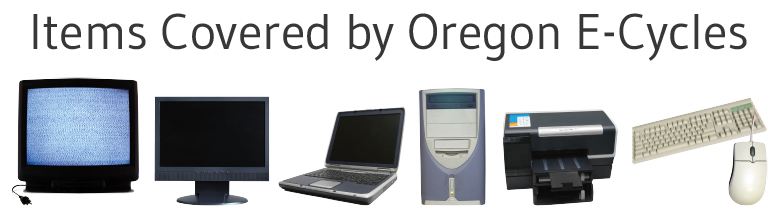 Photos of items included under Oregon E-Cycles Law