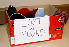 Box of lost and found items